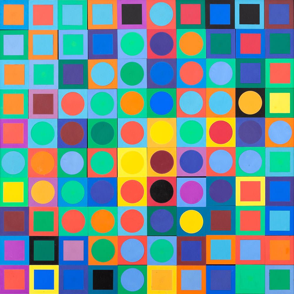 Victor Vasarely - Planetary Folklore Participations nº 1