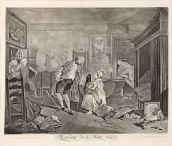 William Hogarth - Marriage A-La-Mode (Plate V)