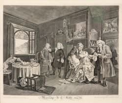 William Hogarth - Marriage A-La-Mode (Plate VI)